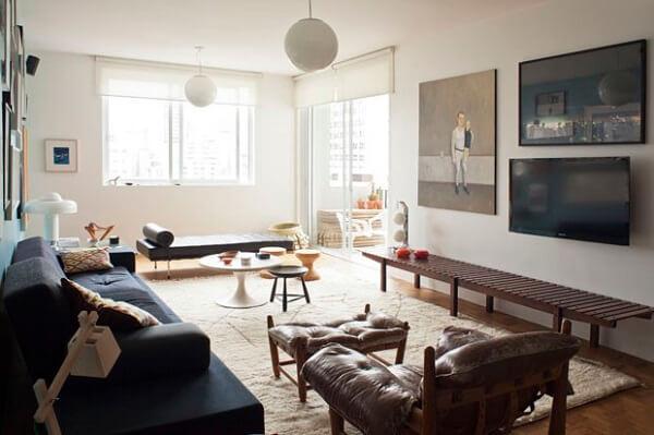 Poltronas para sala de tv com descanso para pés
