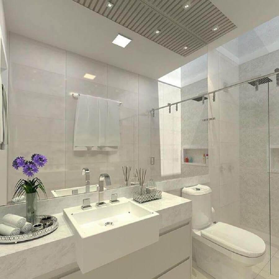decoração clean para banheiro todo branco Foto Marília Zimmermann Arquitetura e Interiores