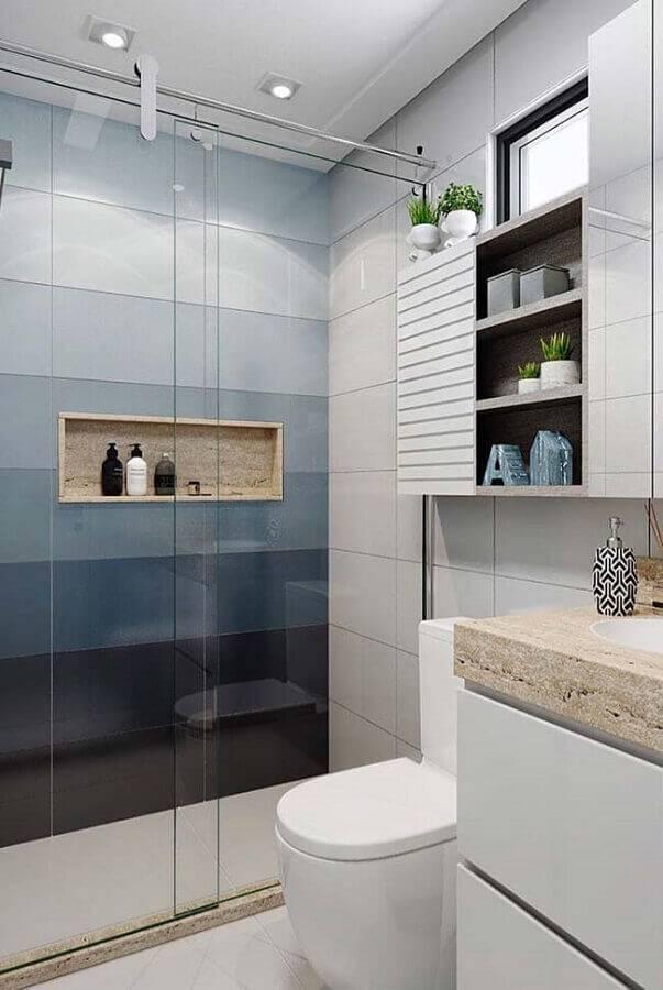 decoração moderna para banheiro pequeno planejado Foto Home Fashion Trend