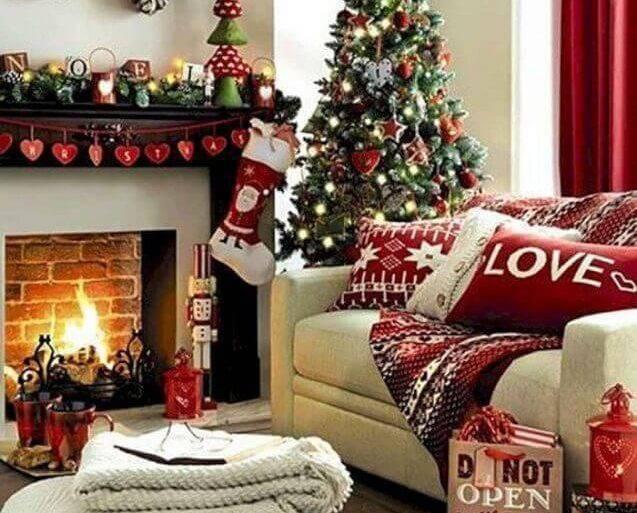 decoração natalina para sala de estar