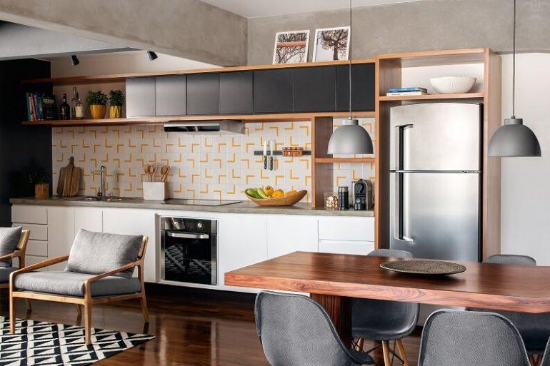decoração para cozinha conceito aberto