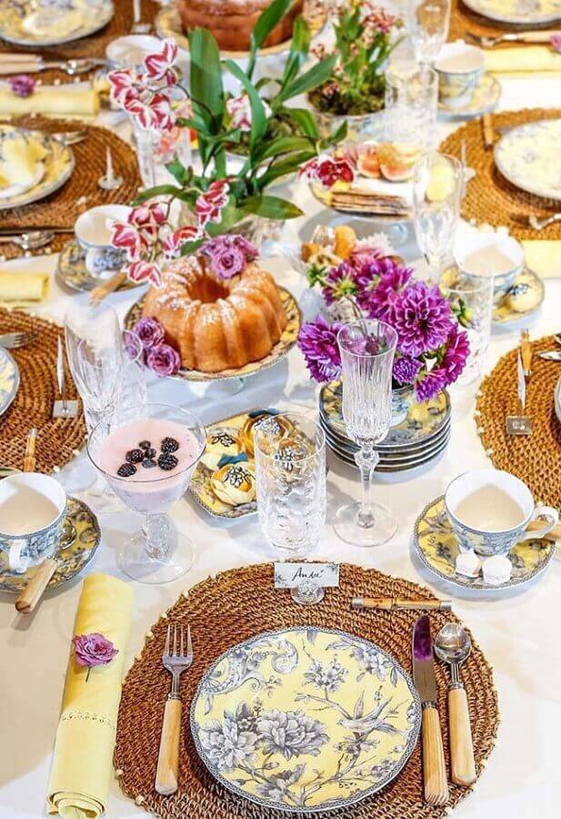 decoração para mesa de café da manhã chique Foto Pinterest