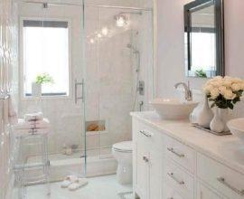 decoração romântica para banheiro todo branco  Foto Home Decor Ideas