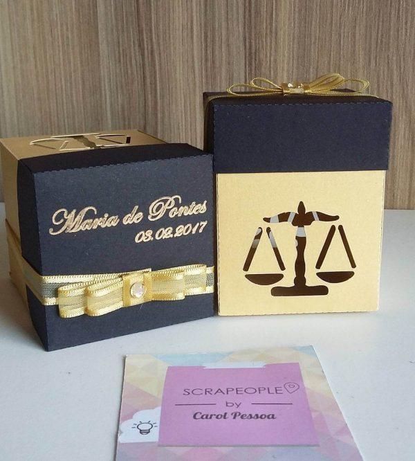 Caixinha de lembrancinhas de formatura de direito