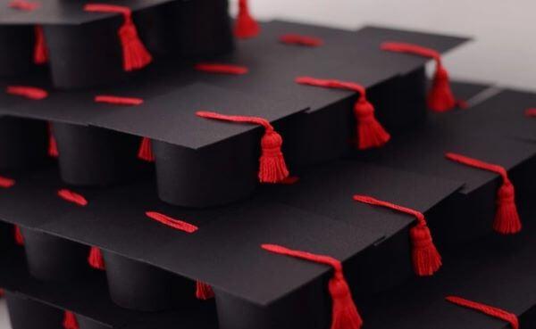 Lembrancinhas de formatura em formato de capelo