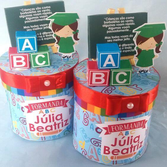 Lembrancinhas de formatura infantil ABC