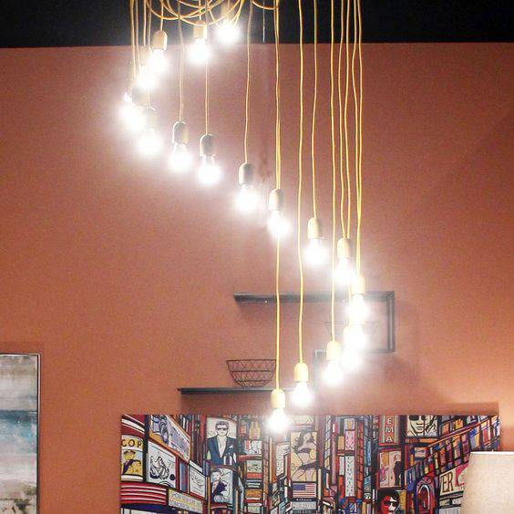 lustres modernos - lustre com cordas