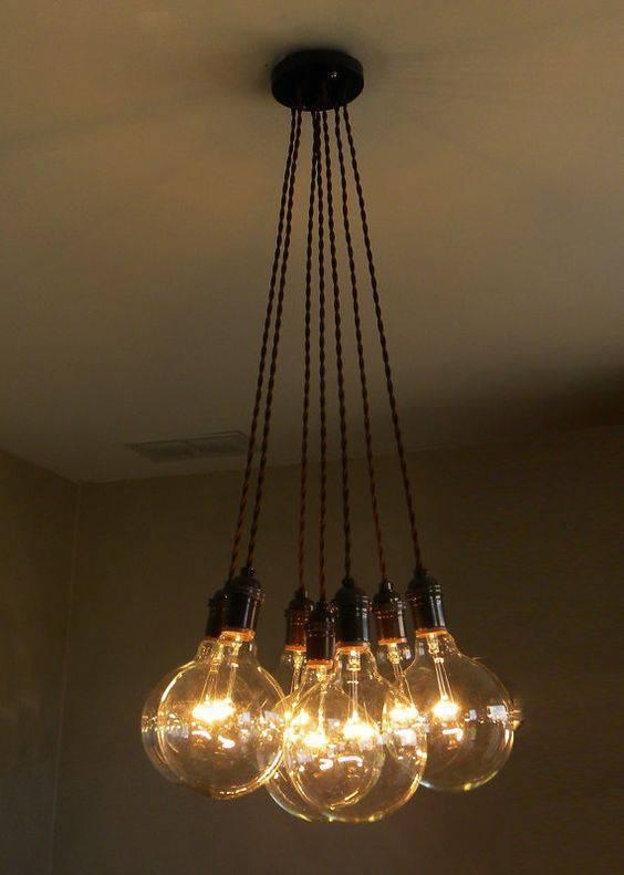 lustres modernos - lustre de cordas