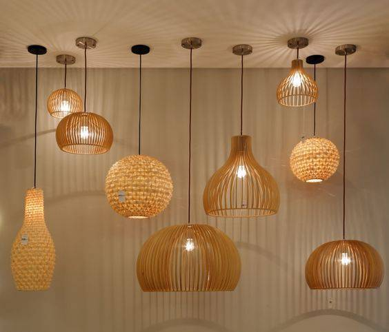 lustres modernos - lustres modernos de madeira