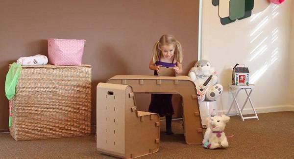 Invista em móveis de papelão infantil