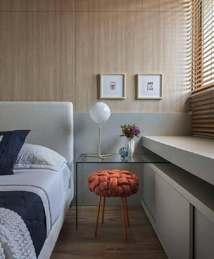 mesa de apoio para quarto planejado moderno Foto Isa Domingues