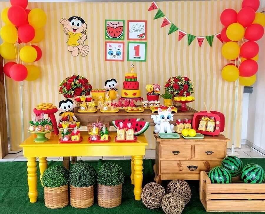 mesa de festa de aniversário da Magali Foto Pinterest