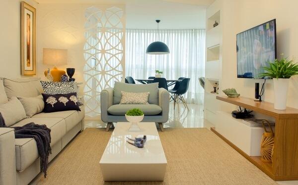 Poltronas para sala de tv complementam a decoração do ambiente