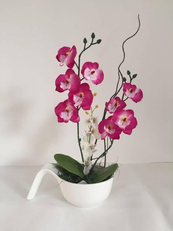 Mini orquídea rosa