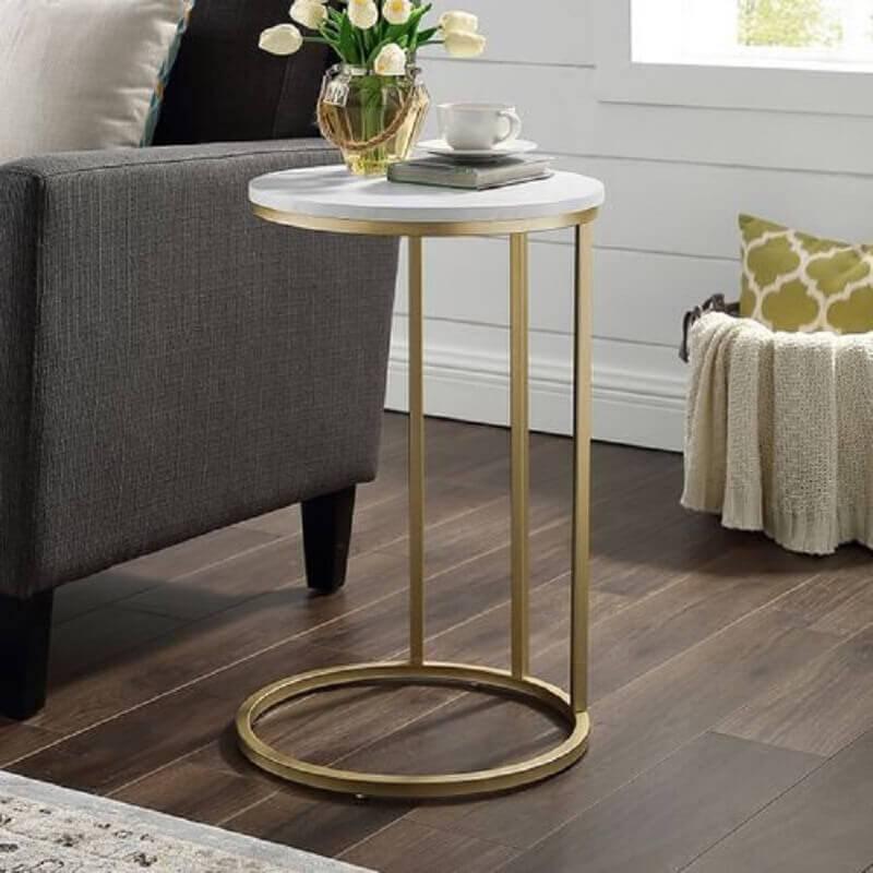 modelo de mesa de apoio para sofá Foto Pier 1