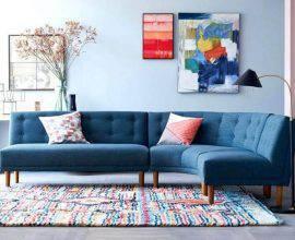 modelo de sofá sem braço com design arredondado Foto Pinterest