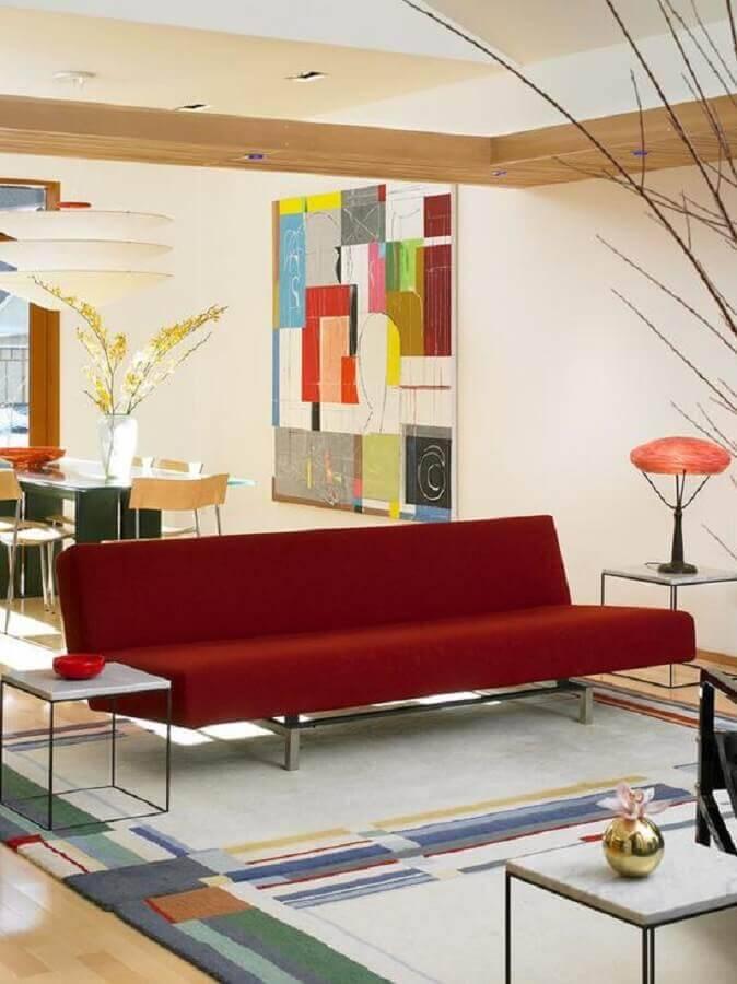 modelo de sofá sem braço vermelho Foto Assetproject