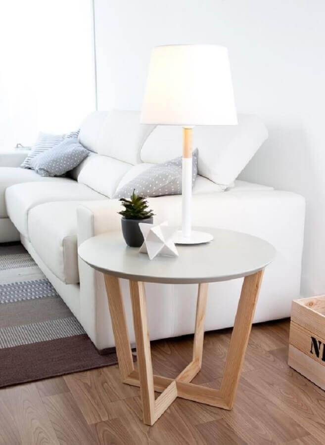 modelo moderno de mesa de apoio para sala moderna Foto Kenay Home