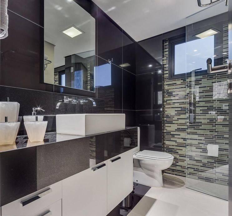 pia de granito - lavabo com revestimento de granito
