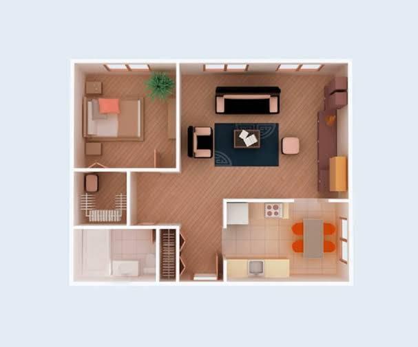Plantas de casas simples com 1 quarto