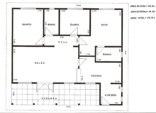 Organize as plantas de casas simples