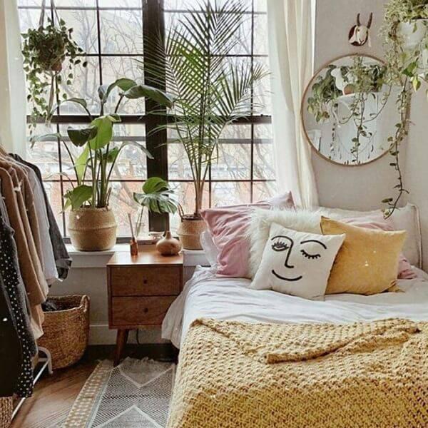 As plantas para quarto transmitem descontração ao espaço