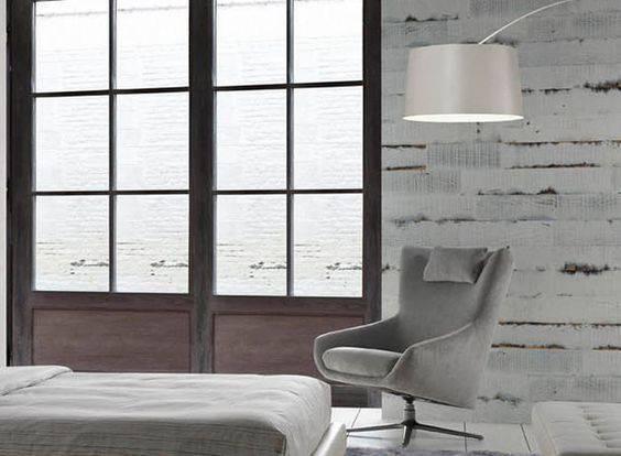 poltrona giratória - poltrona cinza em quarto