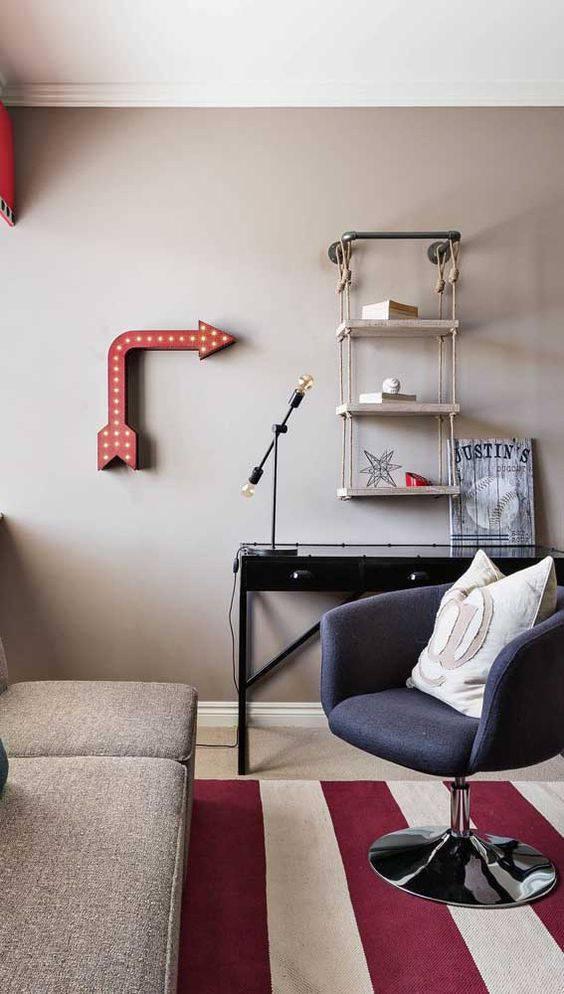 poltrona giratória - poltrona cinza roxo escura