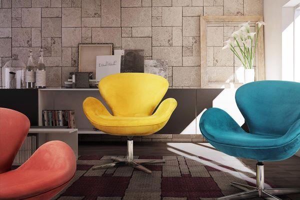 Poltrona tulipa para sala de estar