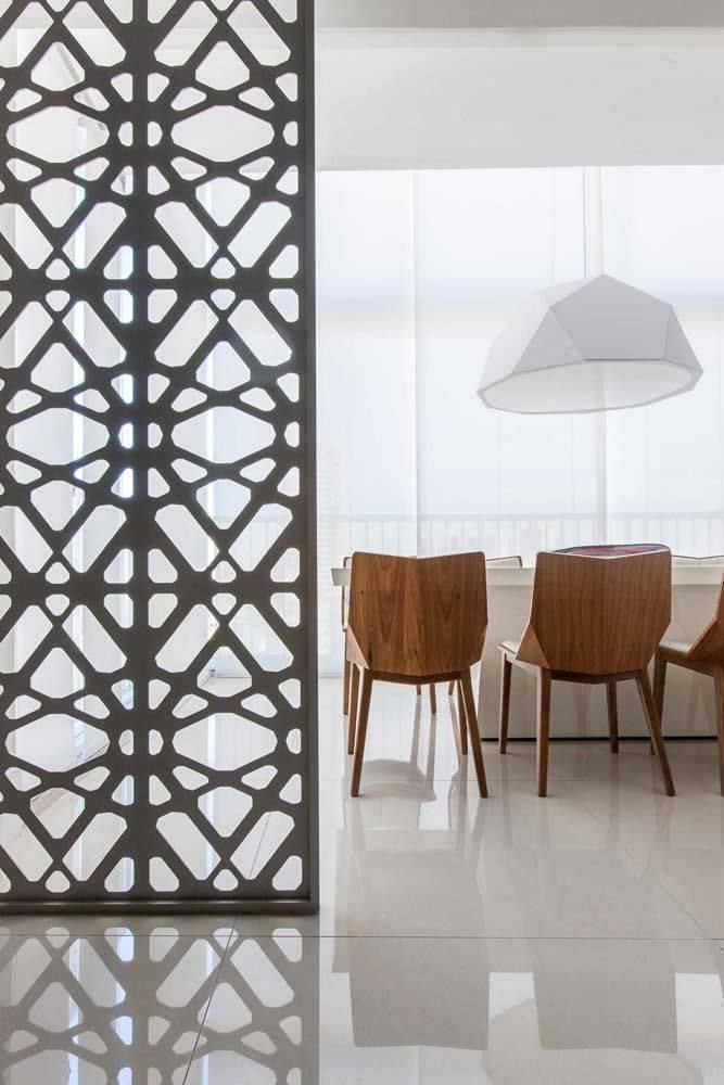 porcelanato branco - piso de porcelanato em sala de jantar