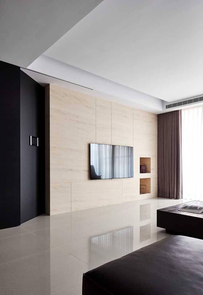 porcelanato branco - porcelanato branco em quarto grande