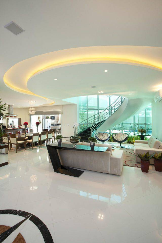 porcelanato branco - sala de estar com porcelanato branco polido