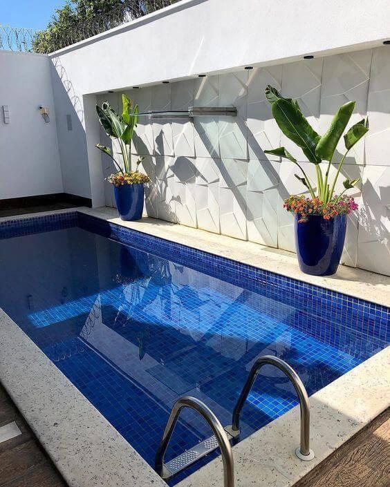 revestimento para piscina - piscina com borda de granilite