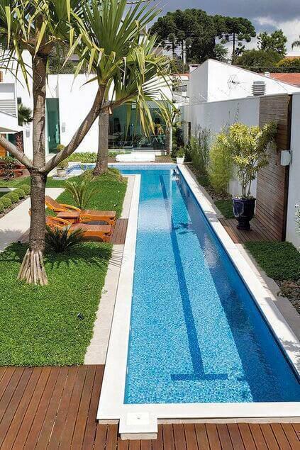 revestimento para piscina - piscina com faixa