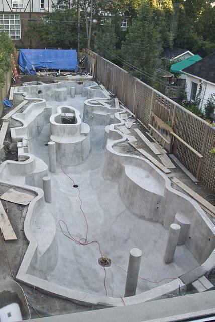 revestimento para piscina - piscina de concreto