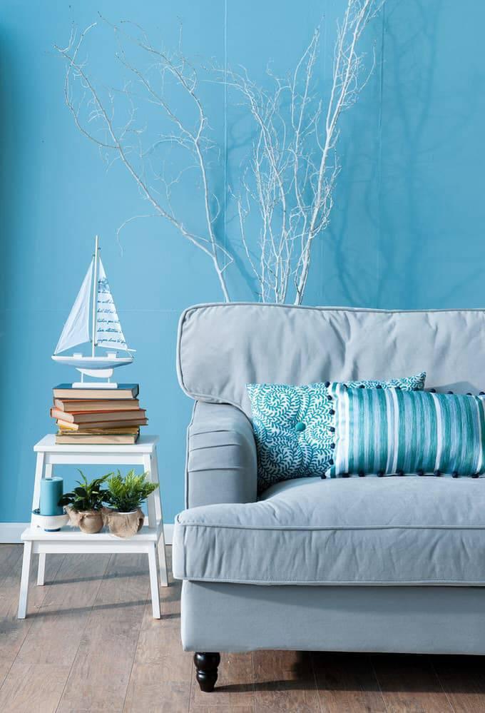 Tons de azul para parede