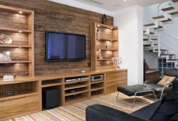 Poltronas para sala de tv feitos com tecido de couro