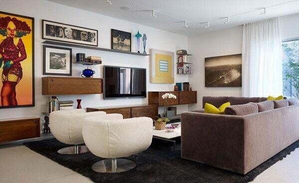 Poltronas para sala de tv giratórias e em formato arredondado