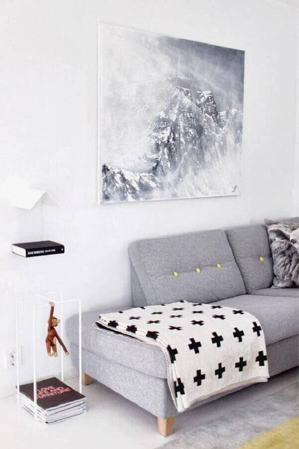 sofá sem braço cinza com design moderno Foto We Heart It