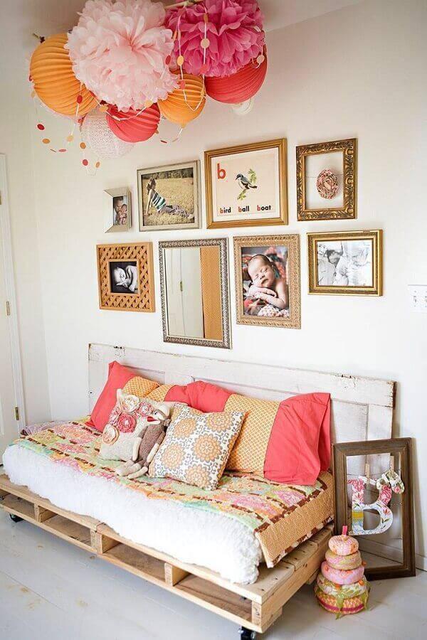 sofá sem braço de pallet Foto Pinterest