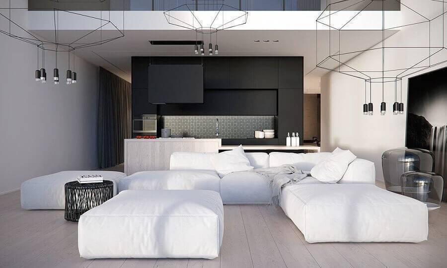 sofá sem braço moderno Foto Bel Decor