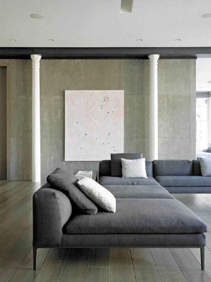 sofá sem braço moderno cinza Foto Otimizi