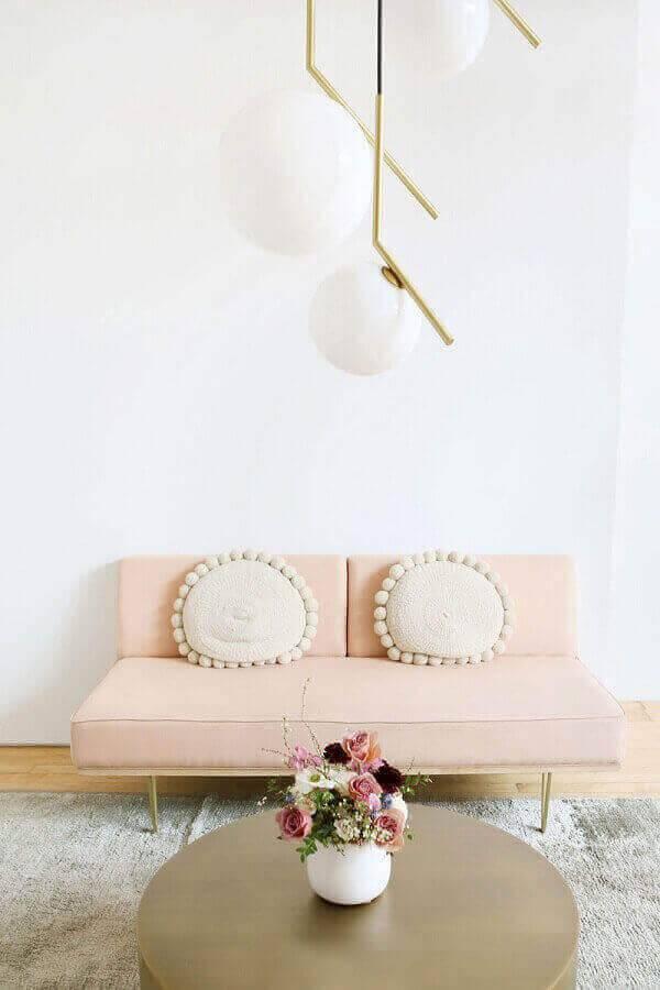 sofá sem braço moderno com design minimalista Foto Roomed