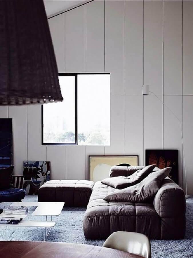 sofá sem braço modular Foto Wood Save