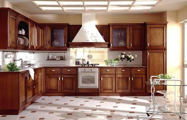 Modelo de armário de madeira planejado