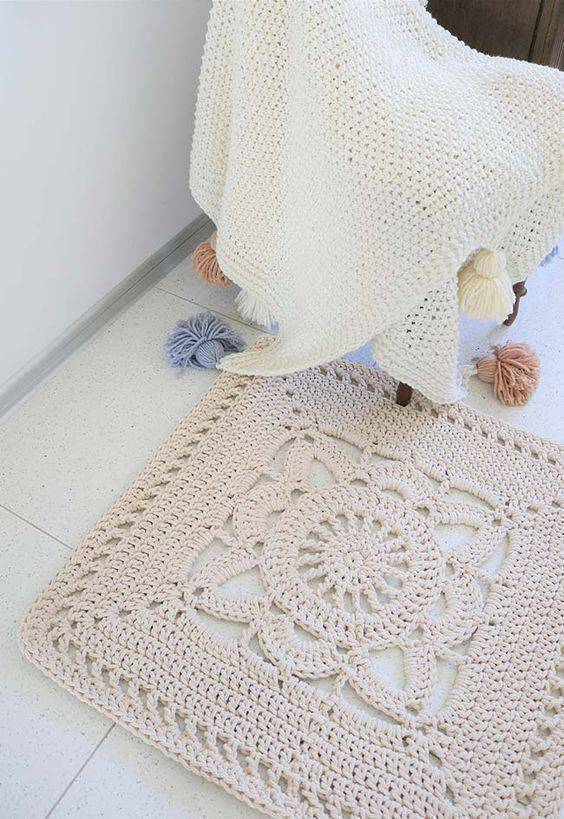 Tapete De Crochê Quadrado 72 Modelos Lindos E Dicas De Como Fazer