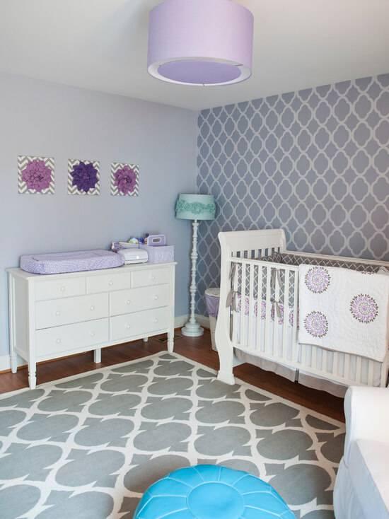 Temas para quarto de bebê lilás