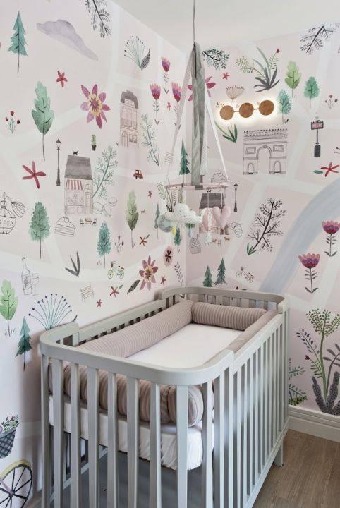 Quarto de bebê tema paris
