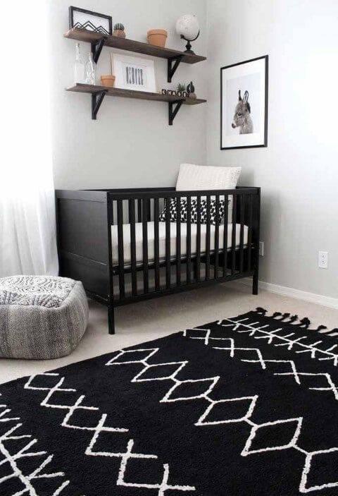Temas para quarto de bebê preto e branco