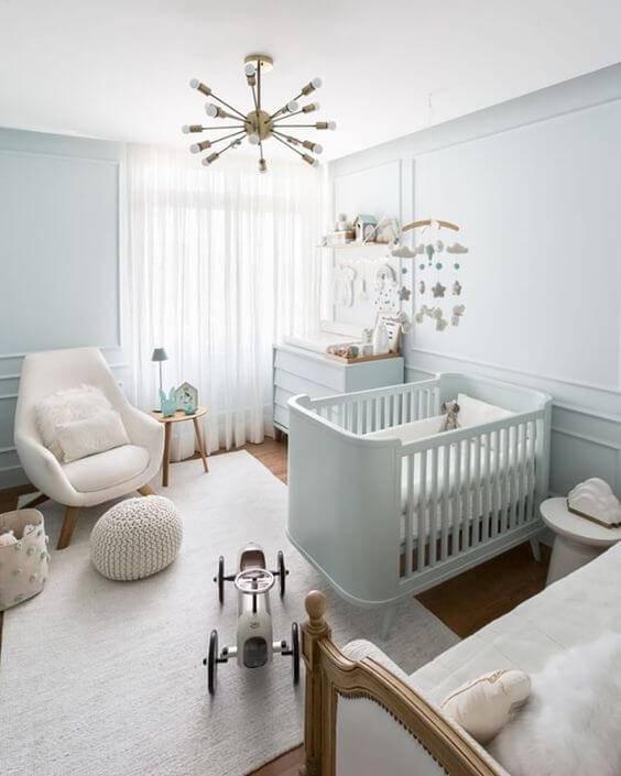 Temas para quarto de bebê em tons claros